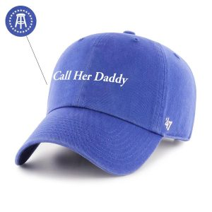 CHD 47Hat Royal 1 - Call Her Daddy Merch