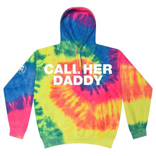 CHDBold Hoodie NeonRainbow - Call Her Daddy Merch