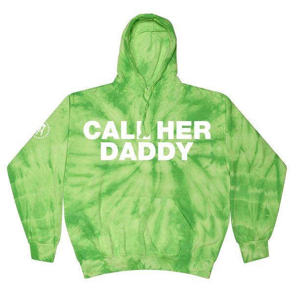 CHDBold Hoodie SpiderLime - Call Her Daddy Merch