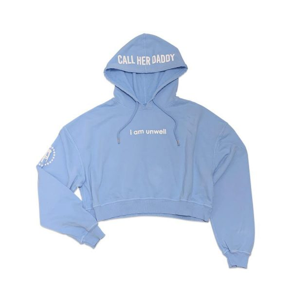 UnwellBlueCropHoodie 2 - Call Her Daddy Merch
